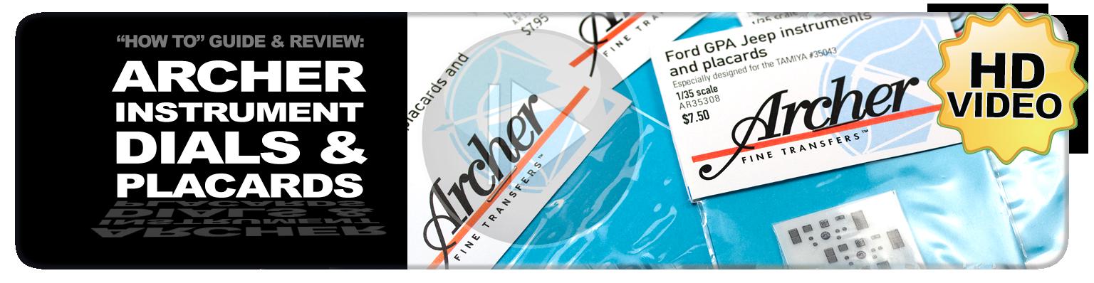 Archer Fine Transfers Instrument Dials & Placards