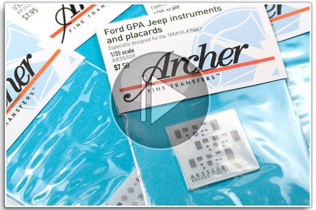 Archer Fine Transfers Instrument Dials & Placards