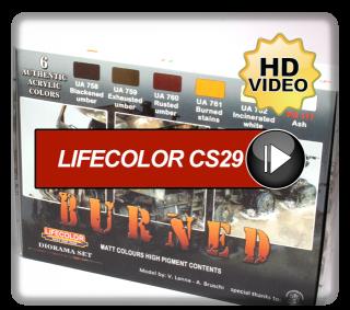 "Lifecolor ""Burned"" Set CS29"