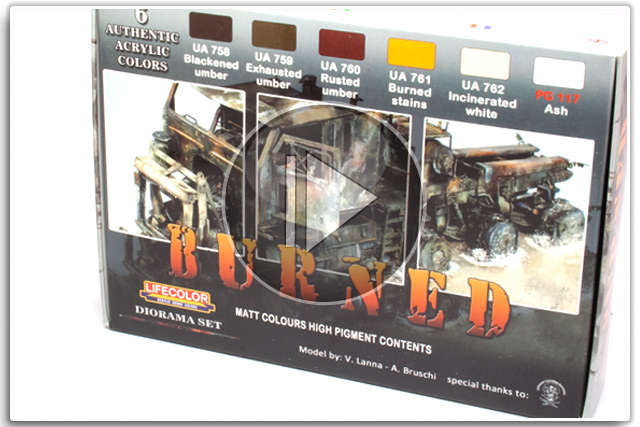 "Lifecolor ""Burned"" Set CS29"