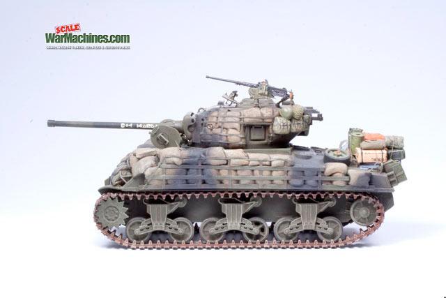 Sandbagged Sherman M4A3