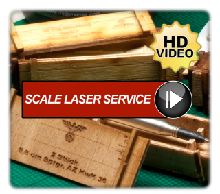 Scale Laser Service Laser-Cut Diorama Accessories